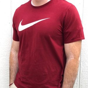 Men's Nike Cotton T (maroon)